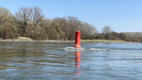 Rote Boje Donau