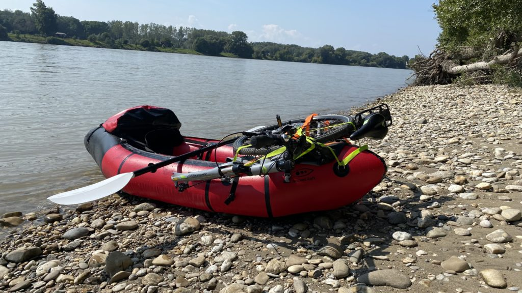 Bike-Rafting: Fahrrad und Packraft